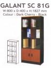Galant SC 81 G Lemari Buku Pintu Kaca